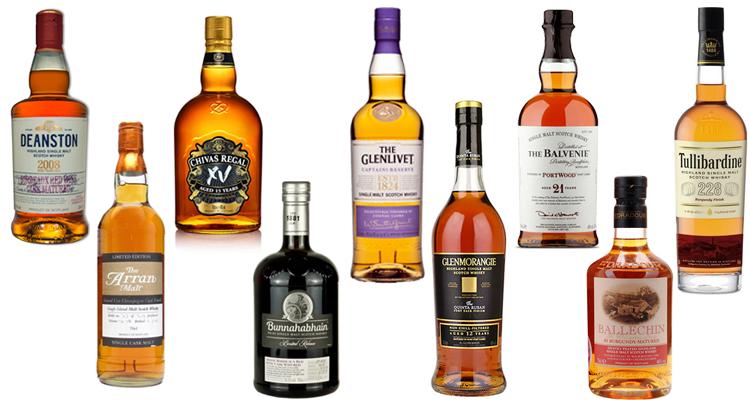 Scotch Whiskies Matured in Wine Casks