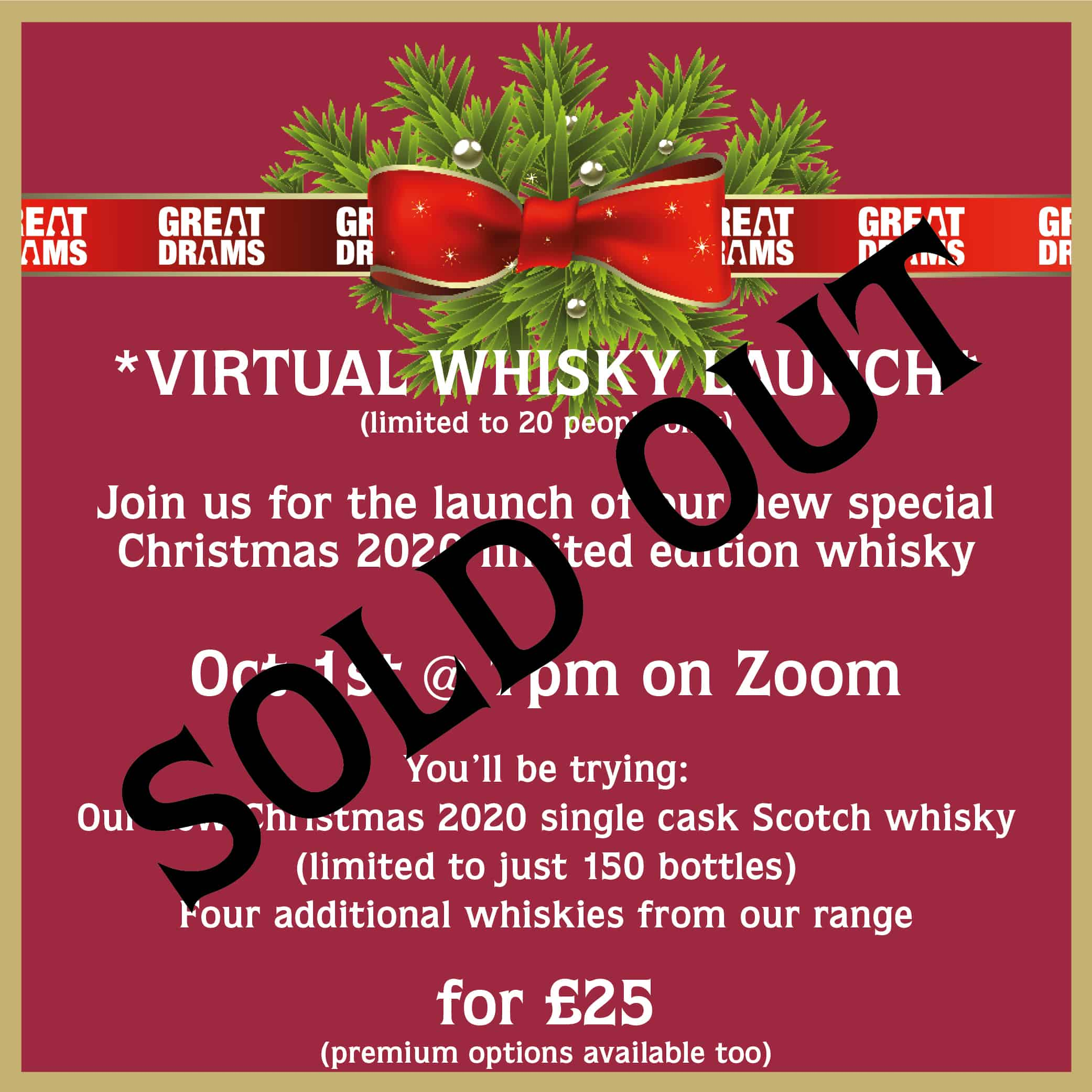 This Is Our Christmas 2020 GreatDrams *VIRTUAL WHISKY LAUNCH* for our Christmas 2020 Limited