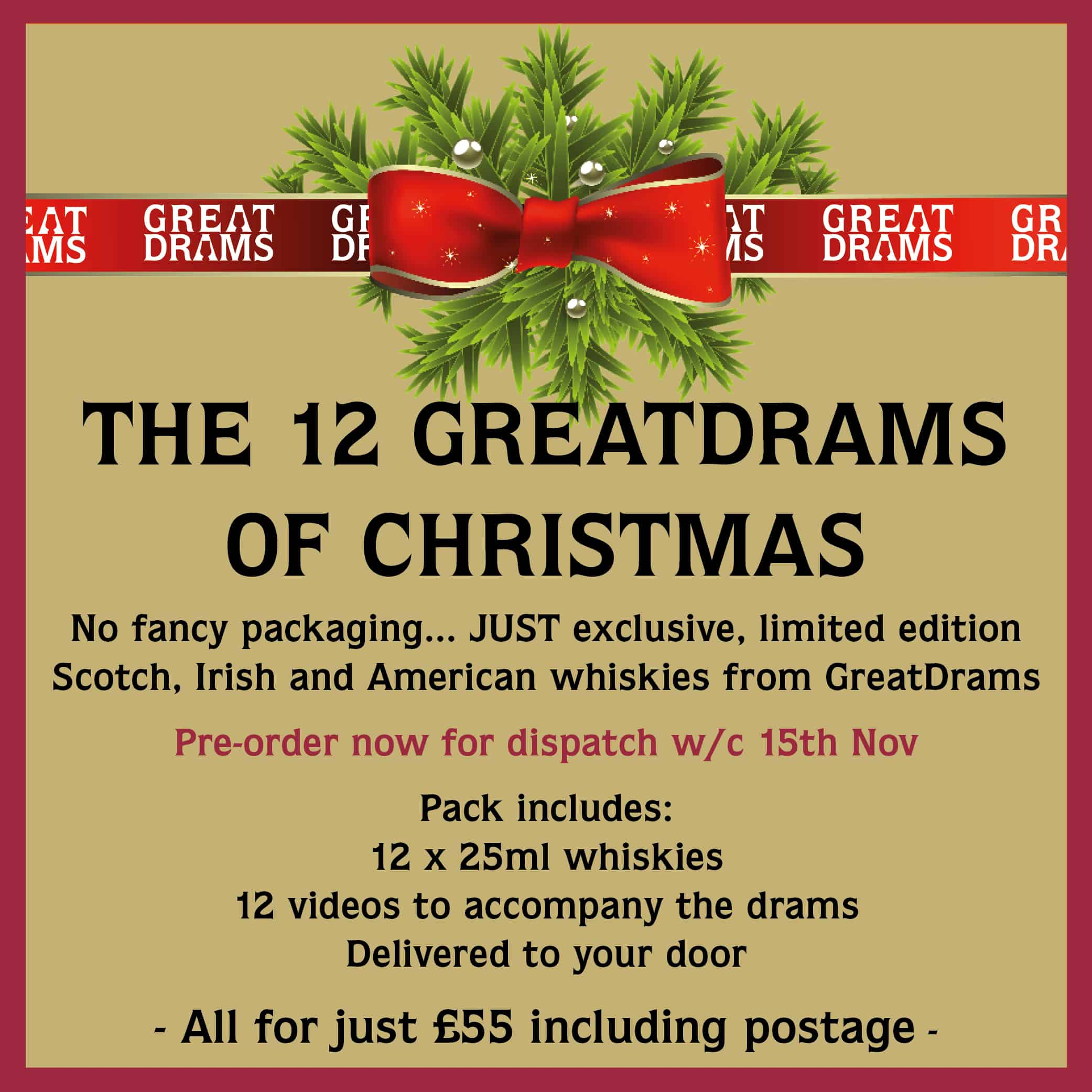 The 12 GreatDrams of Christmas Gift Pack
